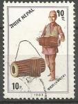 Stamps Nepal -  INSTRUMENTOS  MUSICALES.  KWOTA.