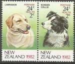 Stamps New Zealand -  RAZA  DE  PERROS.  LABRADOR  Y  BORDER  COLLIE.