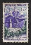 Stamps France -  Reunión: Iglesia Cilaos - Grand Massif Bénard