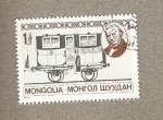Stamps Asia - Mongolia -  Vehiculo antiguo