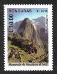 Sellos de America - Honduras -  Homenaje de Honduras al Perú, Personajes Históricos