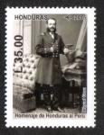 Stamps Honduras -  Homenaje de Honduras al Perú, Personajes Históricos