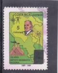 Sellos de America - Costa Rica -  100 años Instituto Geográfico Nacional