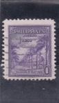 Sellos del Mundo : Asia : Filipinas : paseo de palmeras
