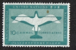 Sellos del Mundo : America : ONU : Plane - Bird, New York