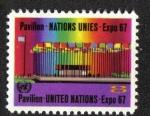 Sellos del Mundo : America : ONU : ONU Pavilion, EXPO '67, New York