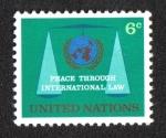 Sellos del Mundo : America : ONU : Libertad a través del Derecho Internacional, New York
