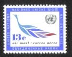 Sellos de America - ONU -  Emblema de la ONU y la rama de olivo, New York