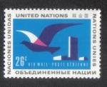 Sellos del Mundo : America : ONU : Pájaro en vuelo , sede de la ONU, New York
