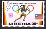 Stamps Liberia -  Juegos Olímpicos de Verano 1972 , Munich