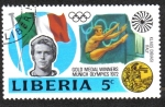 Sellos del Mundo : Africa : Liberia : 20th Olympic Games Medal winners