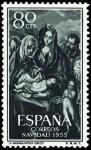 Sellos de Europa - España -  ESPAÑA SEGUNDO CENTENARIO NUEVO Nº 1184 ** 80C VERDE Y OSCURO NAVIDAD