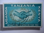 Stamps Tanzania -  Uganda-Tanzania-Kenya-Cooperación Internacional año 1965.