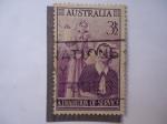 Sellos de Oceania - Australia -  Una Tradición de Servicio.