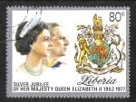Stamps Liberia -  Bodas de Plata