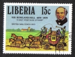 Stamps Liberia -  Rowland Hill