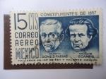 Sellos de America - México -  Constituyentes de 1857 - Valentín Gómez Farias y Melchor Ocampo.