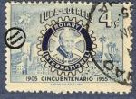 Sellos del Mundo : America : Cuba : Cincuentenario Rotary Internacional. 1905 - 1955
