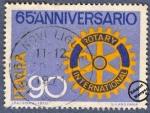 Sellos de Europa - Italia -  65º Aniversario del Rotary Internacional