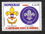 Sellos de America - Honduras -  75 Aniversario Scouts de Honduras