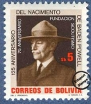 Sellos del Mundo : America : Bolivia : 125º Aniversario del nacimiento de Lord Baden-Powell y 75º Aniversario del Scoutismo