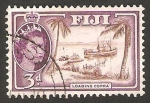 Stamps Oceania - Fiji -  150 - Elizabeth II, transporte de copra
