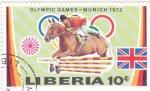 Stamps Liberia -  Olimpiada Munich-72