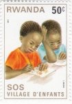 Sellos de Africa - Rwanda -  SOS niños