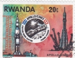 Sellos de Africa - Rwanda -  aeronautica- apolo-soyouz