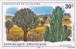Sellos de Africa - Rwanda -  savana-protección de la naturaleza