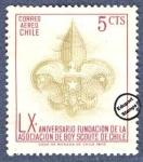 Sellos del Mundo : America : Chile :  60º Aniversario de la fundación de la Asociación de Boy Scouts de Chile