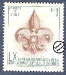 Stamps Chile -  60º Aniversario de la fundación de la Asociación de Boy Scouts de Chile