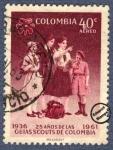Sellos del Mundo : America : Colombia : 25º Aniversario del movimiento Guías Scouts de Colombia 1936-1961