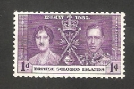 Stamps Oceania - Solomon Islands -  55 - Coronación de George VI