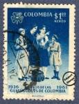 Sellos de America - Colombia -  25º Aniversario del movimiento Guías Scouts de Colombia 1936-1961