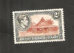 Stamps Oceania - Solomon Islands -  61 - Casa indígena