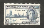 Stamps Oceania - Solomon Islands -  72 - Anivº de la Victoria