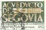 Stamps Spain -  PATRIMONIO DE LA HUMANIDAD. ACUEDUCTO DE SEGOVIA. EDIFIL 3040