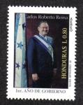 Stamps Honduras -  Primer año de Gobierno, Dr. Carlos Roberto Reina