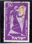 Sellos de Asia - Israel -   114 - Año Nuevo, músico de los tiempos bíblicos