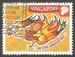 Stamps Singapore -  Año nuevo chino del Dragón