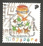 Sellos de Asia - Singapur -  Estrellas