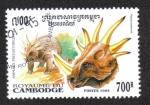 Sellos de Asia - Camboya -  Animales Prehistóricos