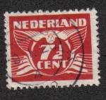 Stamps Netherlands -  Flying Dove