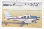 Sellos de America - Granada -  avioneta-apache