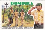Stamps Dominica -  Boy Scout-jamaica-1977