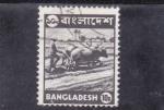 Sellos de Asia - Bangladesh -  arando con bueyes