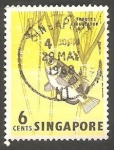 Sellos de Asia - Singapur -  56 - Pez