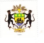 Sellos de Africa - Gabón -  escudo-GABON   -sin valor postal