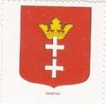 Stamps Poland -  escudo-DANZING   -sin valor postal